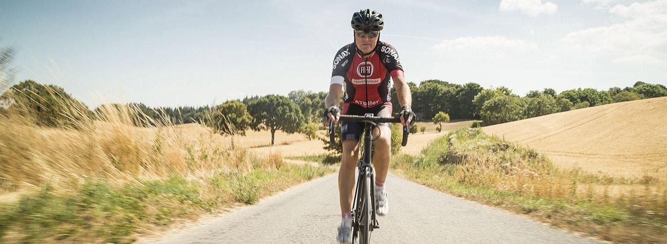 Jardinería profesional, Cliente en bicicleta de carreras