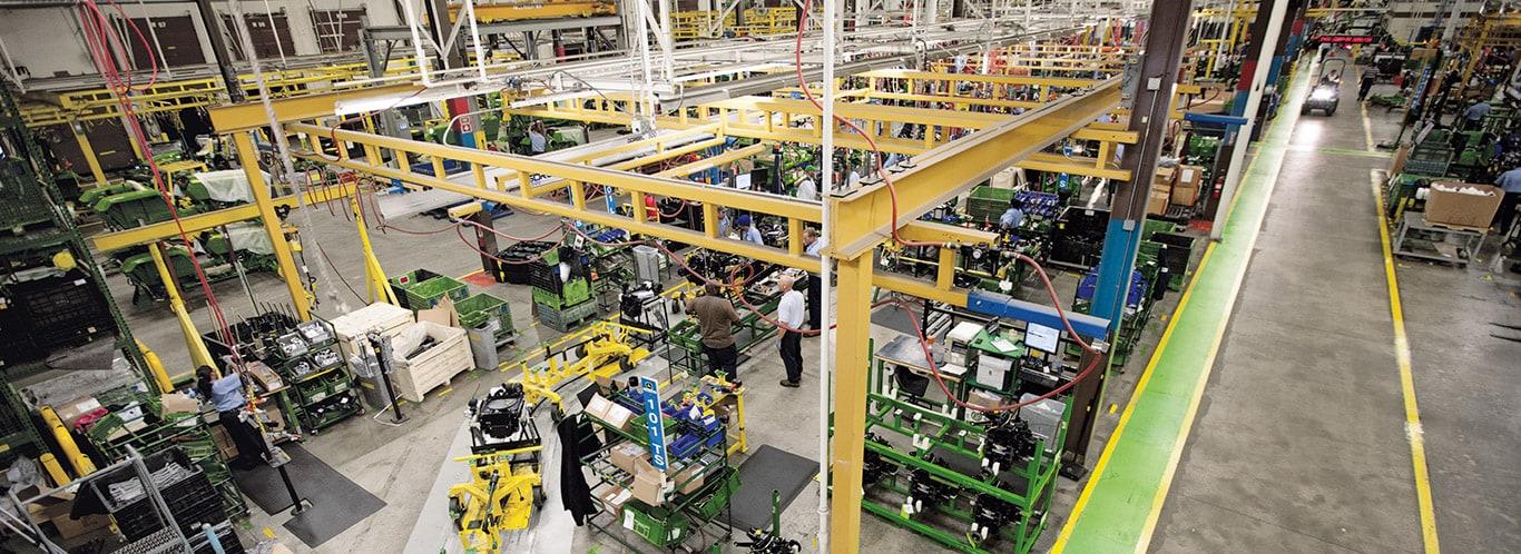 Fábrica de Augusta, tractores utilitarios compactos, interiores