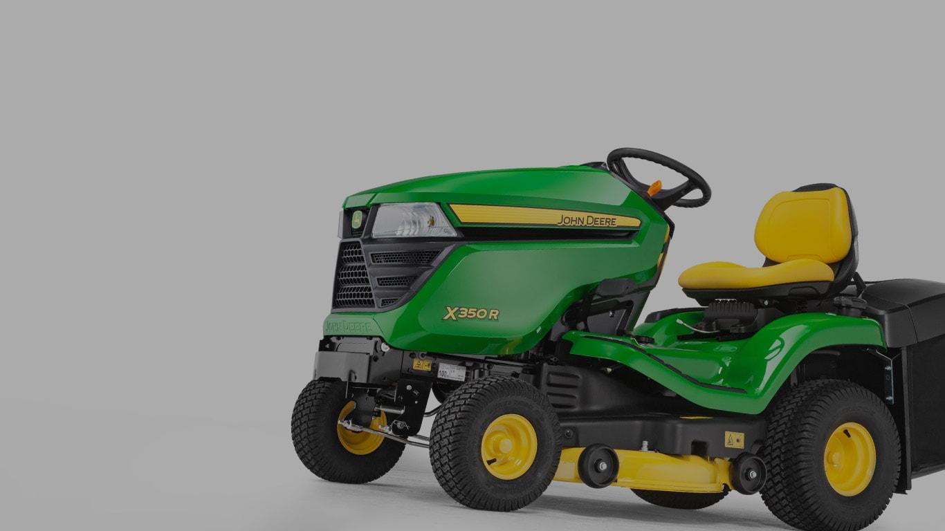 X350R, minitractores, equipo de jardinería con asiento, serie X300, selector de productos