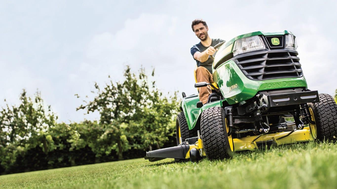 Equipo de jardinería con asiento RLE, tractores de césped de la serie X500